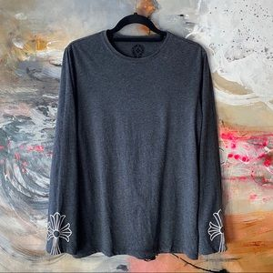 Chrome Hearts Grey Long-Sleeve Top - Size Small